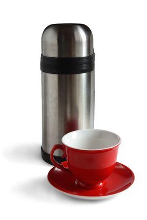 Tea cap and flask. Stock Photo - 5131649