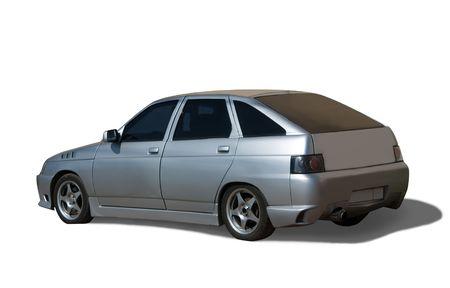 Silver  car Stock Photo - 5135348