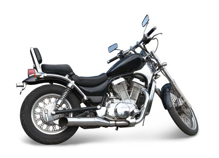 v cycle: Big black  motorcycle. Isolated