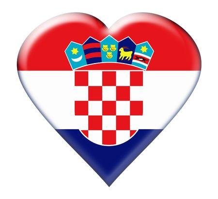 Icon of Croatia national flag. Illustration on white background Stock Illustration - 5162746