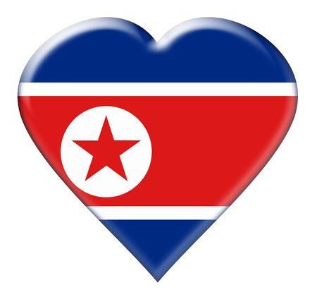 Icon of North Korea national flag. Illustration on white background illustration