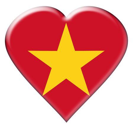 ベトナムの国旗のアイコン。白い背景の上の図