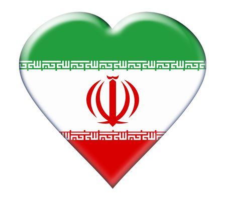 iran: Icon of Iran national flag. Illustration on white background