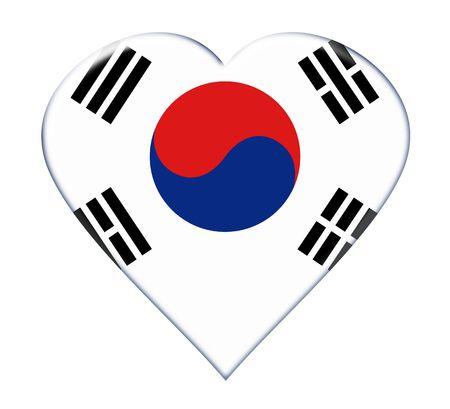 Icon of South Korea national flag. Illustration on white background illustration