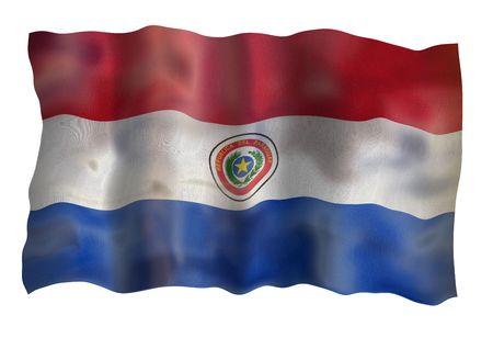 Vintage Flag of Paraguay. Illustration over white background Stock Illustration - 5223576