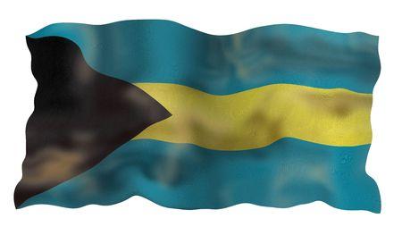 Vintage Flag of Bahamas. Illustration over white background Stock fotó - 5223586