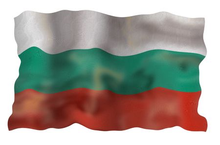 Vintage Bulgaria national flag. Illustration on white background Stock Illustration - 5223591