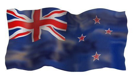 Vintage Flag of New Zealand. Illustration over white background illustration