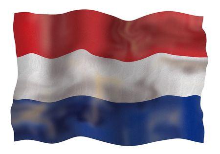 Vintage Netherlands national flag. Illustration on white background illustration