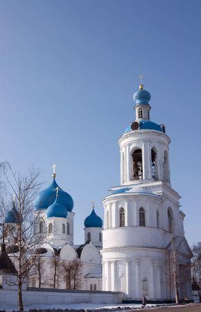House of Bogolyubskaya Theotokos in winter. Bogolubovo  photo