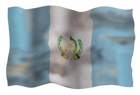 Vintage Flag of Guatemala. Illustration over white background Stock Illustration - 5345865