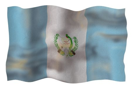 Vintage Flag of Guatemala. Illustration over white background Stock Illustration - 5345865