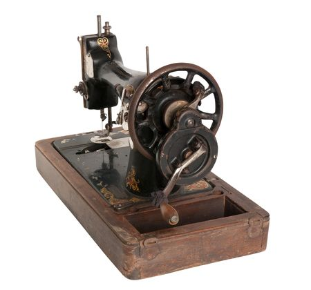 Vintage Sewing machine. Isolated photo