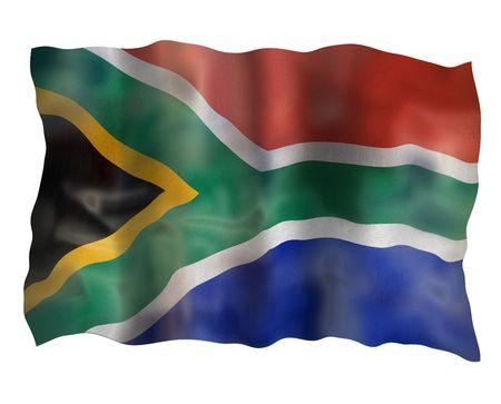 Vintage Flag of RSA. Illustration over white background illustration