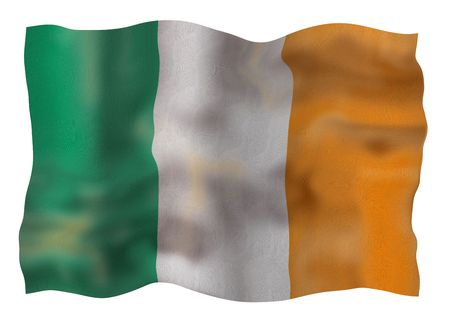 eire: Vintage Ireland national flag. Illustration on white background
