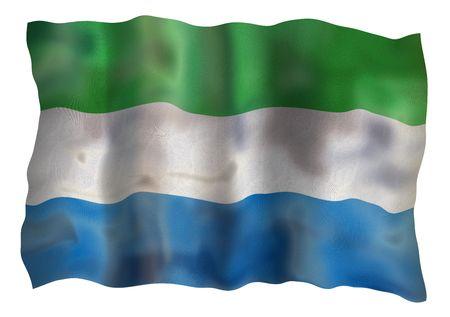 Vintage Flag of Sierra Leone. Illustration over white background illustration