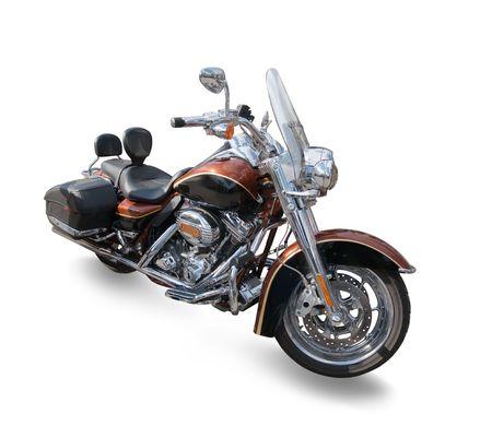 v cycle: large motor cycle Stock Photo
