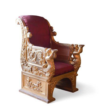 Golden luxury chair.  photo
