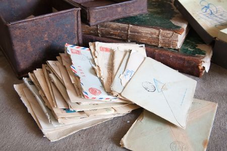 letter box: few vintage letters from an old box