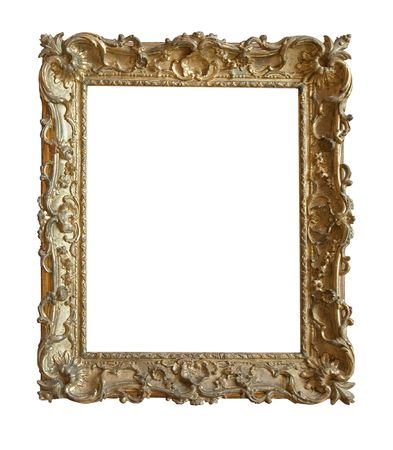 old antique gold frame over white background Stock Photo - 5719997