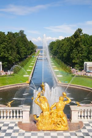 st petersburg: Fountains of Petergof, Saint Petersburg, Russia