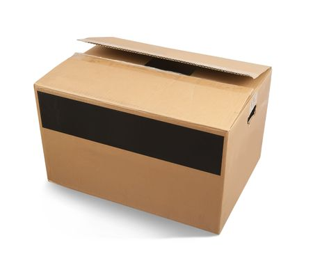 Cardboard box isolated Stock Photo - 5855562