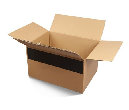Cardboard box, isolated photo