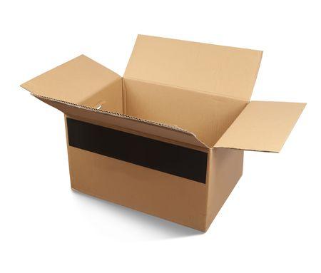 packer: Cardboard box, isolated