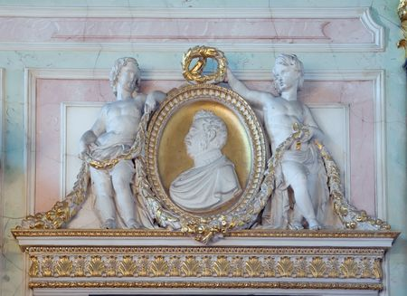 Closeup of Interior of Winter Palace at St. Petersburg, Russia photo