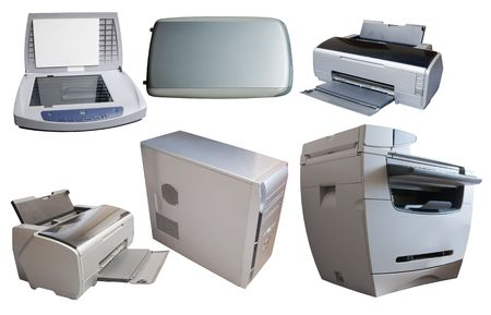 office equipment: PC and different office  device.