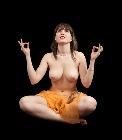 yoga praticiens fille nue. Banque d'images - 5979472
