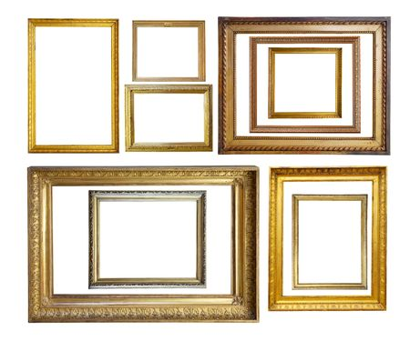 Set of  Vintage gold picture  borders photo