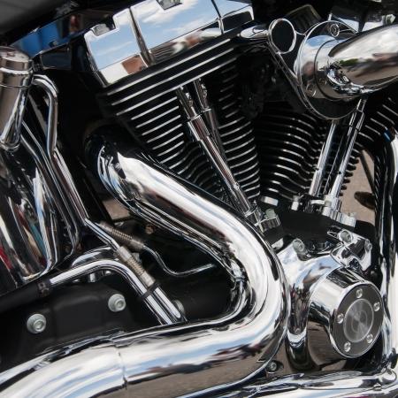 cycles: Closeup brillante d'un grand moteur de moto