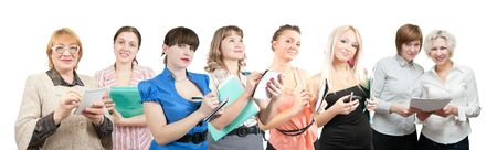 Group of businesswomen. Isolated over white background Stock Photo - 6081077