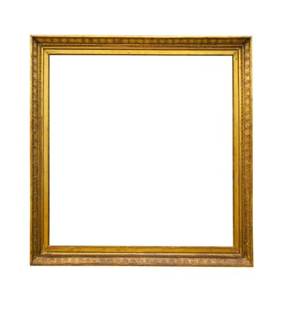 gold antique frame isolated on white background Stock Photo - 6123189