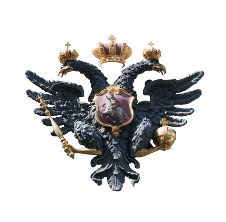 doubleheaded: double-headed eagle, isolated over white
