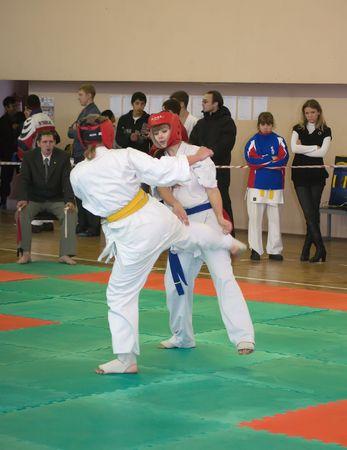 RUSSIA, VLADIMIR - NOVEMBER 7, 2009: National championship among juniors by kyokushin karate event november 7, 2009 in Vladimir, Russia
