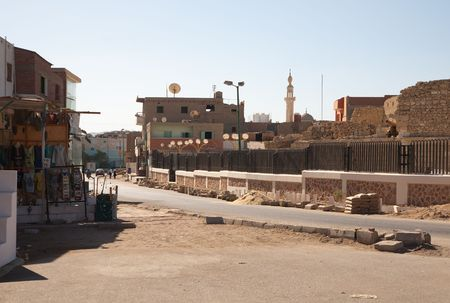 indigence: View of ordinary street at Al-Quseir, Egypt