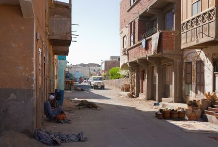 destitution: View of ordinary street at Al-Quseir, Egypt