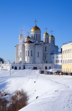 Assumption cathedral at Vladimir in winter, Russia Stock Photo - 6430939