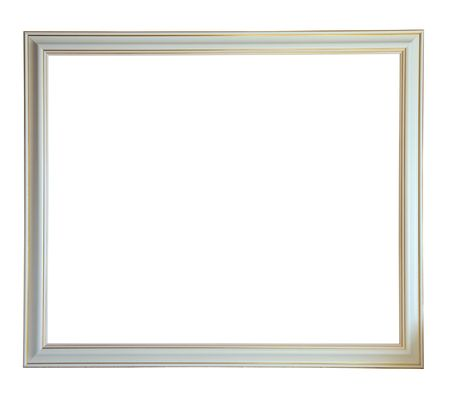 photo of pattern: Modern new white picture frame, isolated