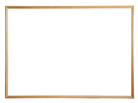 outage: thin wooden picture frame, isolated  Stock Photo