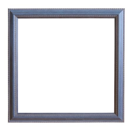 plastic art: Modern gray picture frame, isolated  Stock Photo