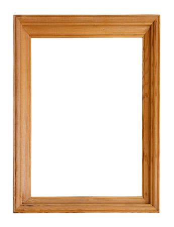 outage: wooden picture frame, isolated