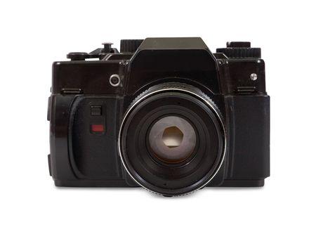 film photocamera. Isolated over white Stock Photo - 6470086