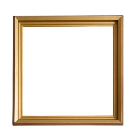 outage: Modern gold picture frame, isolated