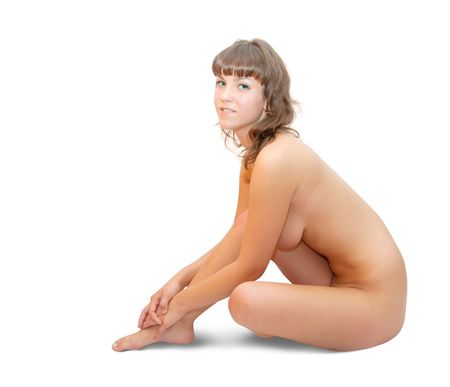 nude girl. Isolated on white background Stock Photo - 6498813