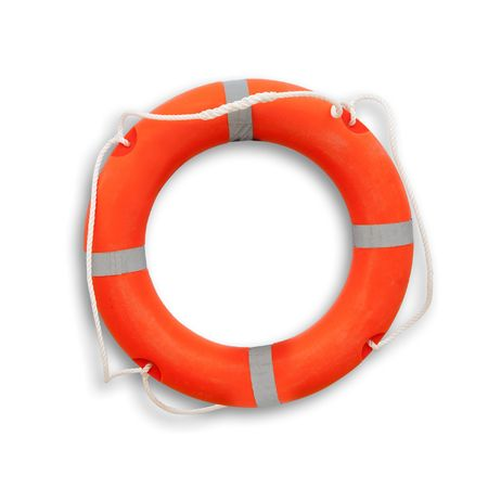 preserver: lifebouy. Isolated over white background  Stock Photo