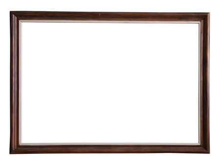 outage: wooden picture frame Stock Photo