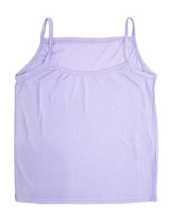 wifebeater: Violet vest. Isolated on white background